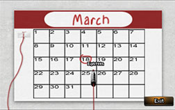 Have Rosa change the date on the calendar at Field's Gym. Then have Joey reschedule his appointment with Peter.
